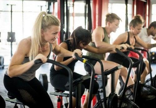 motionscyklen er også god til holdtræning