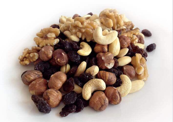 En håndfuld tørre nødder