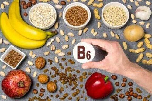 forskellige fødevarer med vitamin B