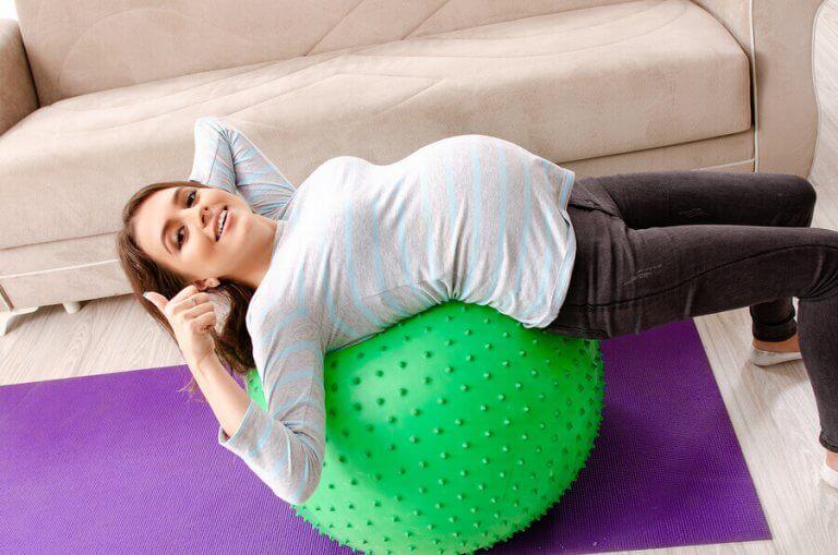 Gravide kvinder og sport: 4 gode valg