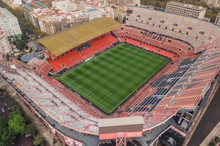 Mestalla, et af de største stadioner i Spanien