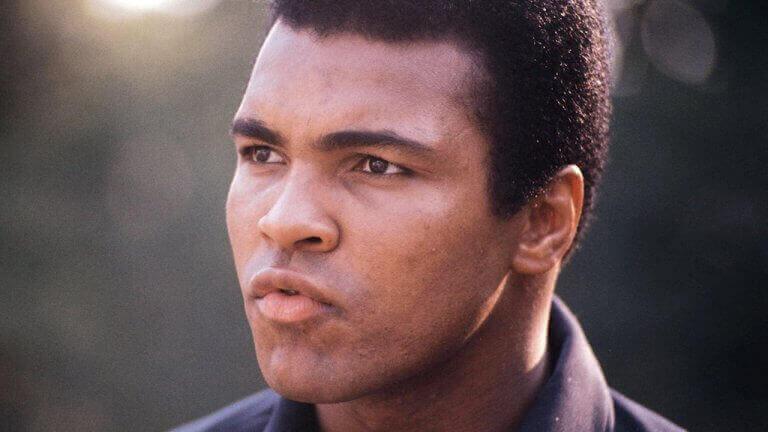 nærbillede af Muhammad Ali