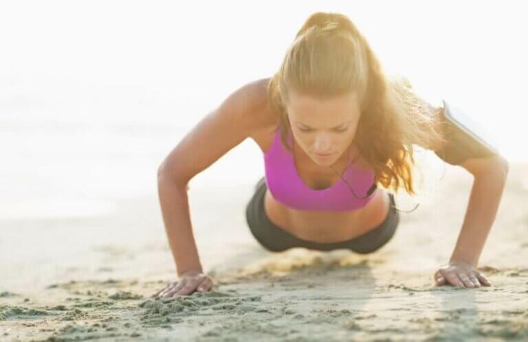 Træning på stranden