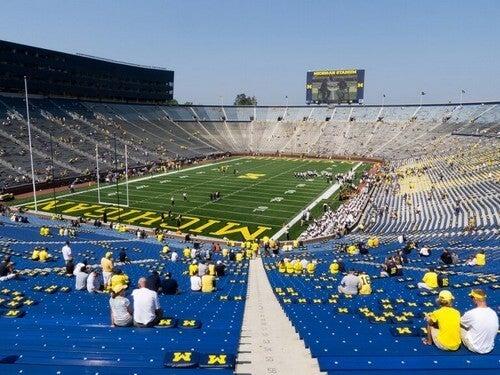 Big House Stadium ligger i Michigan, USA