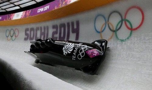 Bobslæde er en af de mange sportsgrene på is