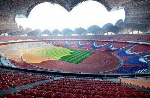 Rungrado-stadion ligger i Nordkorea