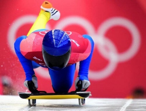 Skeleton er en sportsgren med høj fart