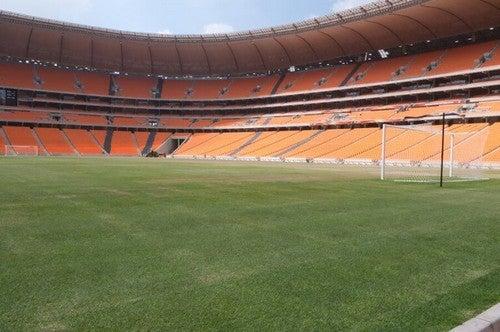 Soccer City ligger i Sydafrika