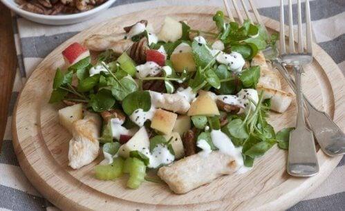 Salat med naturlige produkter