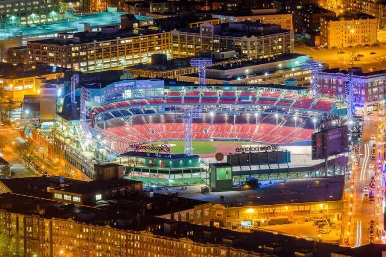 et de største baseballstadioner i Boston