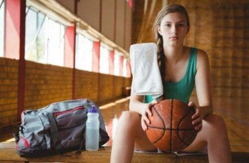 Kosten hos basketballspillere