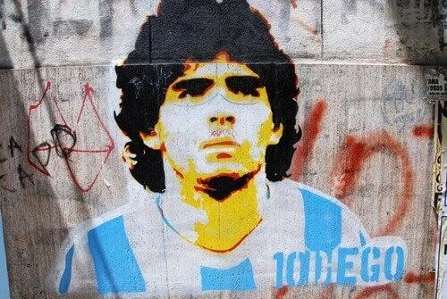 Fodboldspilleren Maradona