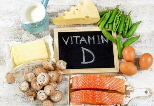 forskellige kilder til D-vitamin