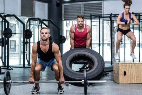 Personer laver CrossFit