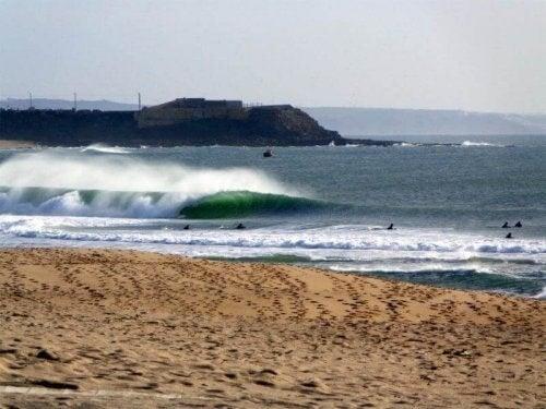 Supertubos strand i Portugal