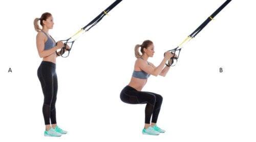 eksempel på at lave suspensionstræning for at træne ben
