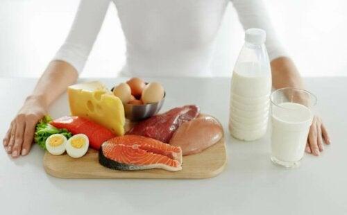 proteinholdige fødevarer