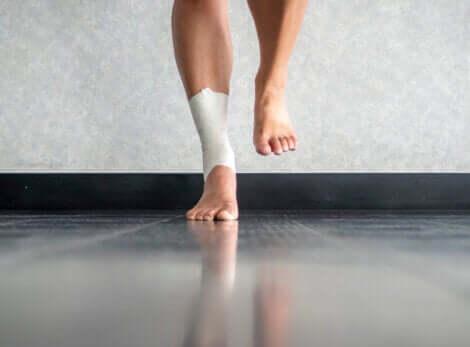 Proprioceptive øvelser på ét ben