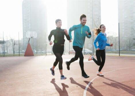 gruppe der løber