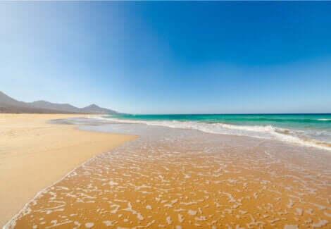 en af de bedste strande til løb i Spanien