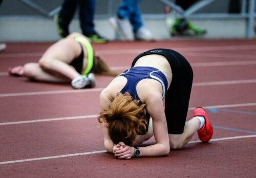 udmattede kvinder efter konkurrence