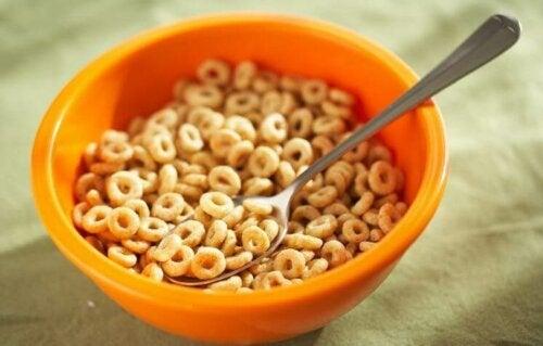 morgenmadsprodukt i skål