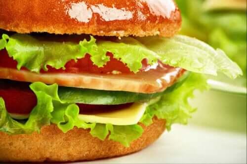 burger med pålæg