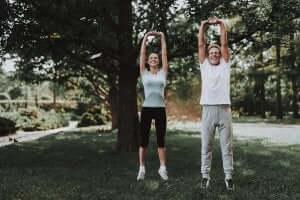 par der træner i have