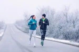 par der løber om vinteren