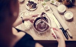 Zubereitung von Brownies