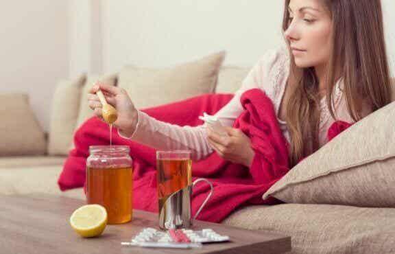 Honig für die natürliche Regeneration der Muskeln