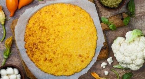 Pizza mit Blumenkohl-Teig