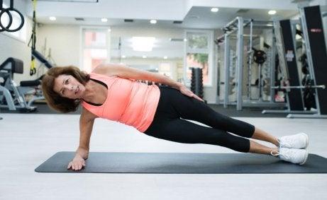 BBP-Workout - seitliche Planks