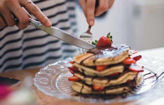 Gesunde Pfannkuchen zum Frühstück