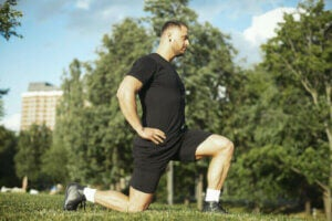 Aerobic-Trainingsplan - statischer Ausfallschritt