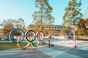 Olympischen Spiele - Olympiastadion Tokio