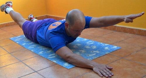 Übung für den Rücken