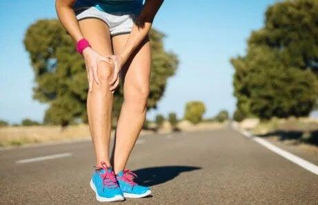 Knieprobleme beim Laufen