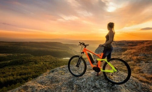 Mit dem Fahrrad in der Natur