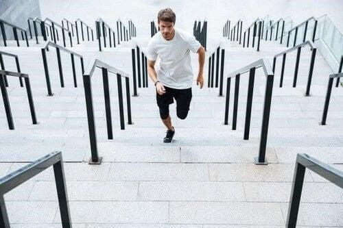 Treppensteigen: Ein intensives Geschwindigkeits- und Krafttraining
