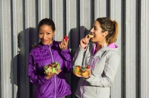 L'alimentation de ceux qui pratiquent l'athlétisme