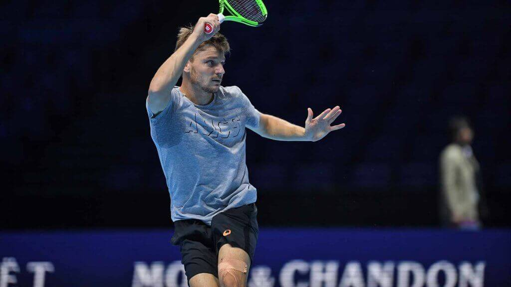 Le jeu de tennis de David Goffin.