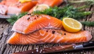 Deux pavés de saumon