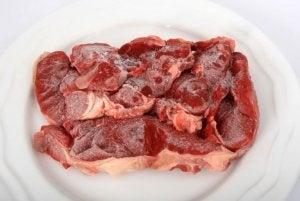 Viande congelée