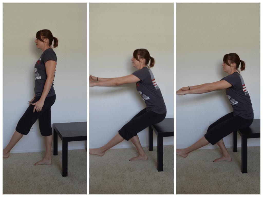 squat sur une jambe