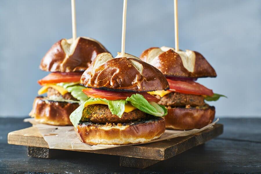 3 recettes d'hamburgers végétariens