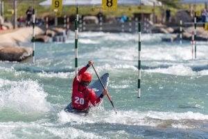 slalom en canoë