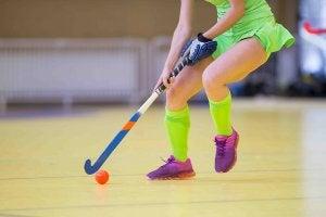 Une joueuse de hockey