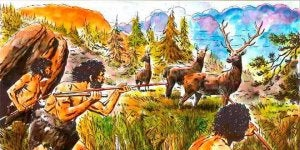 chasse dans le paléolithique