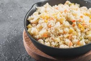 Couscous aux légumes.